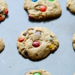 Big soft M&M cookies