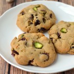 Cranberry, Pistachio and White Chocolate chip pudding cookies