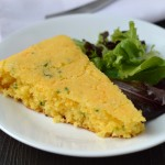 Cheese and chive skillet cornbread