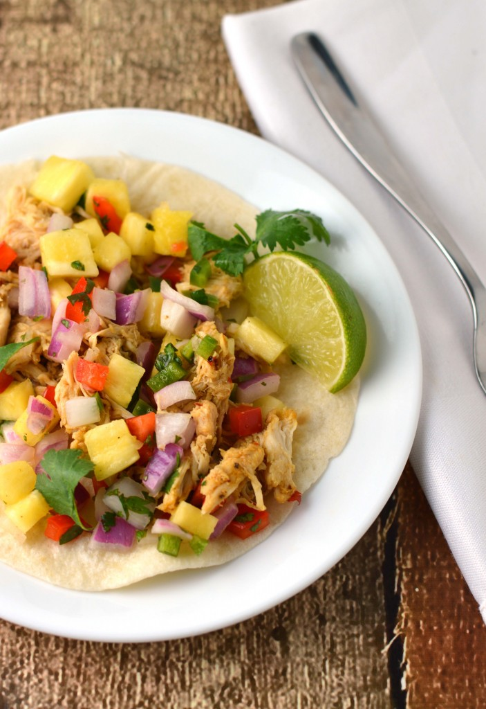 Mango chili chicken tacos with pineapple salsa - Friday is Cake Night