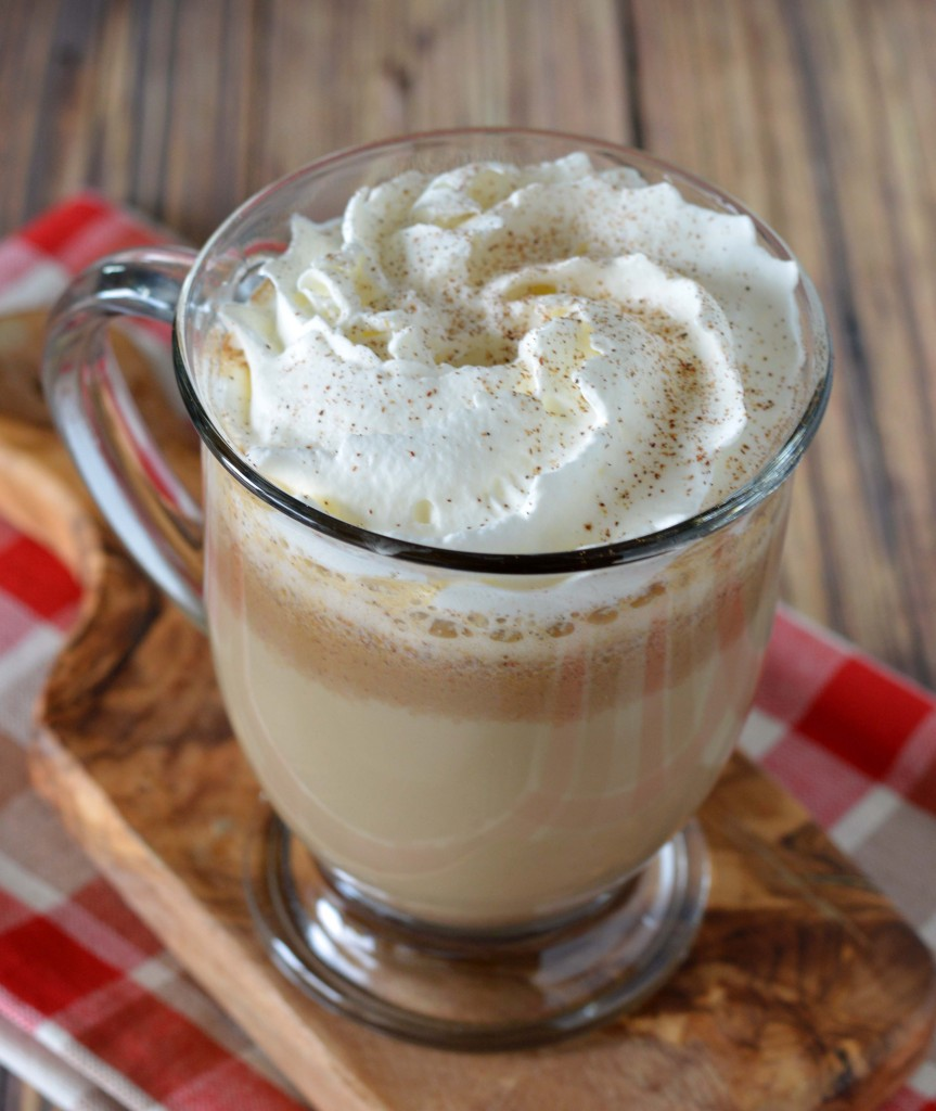 pumpkin spiced latte with whip