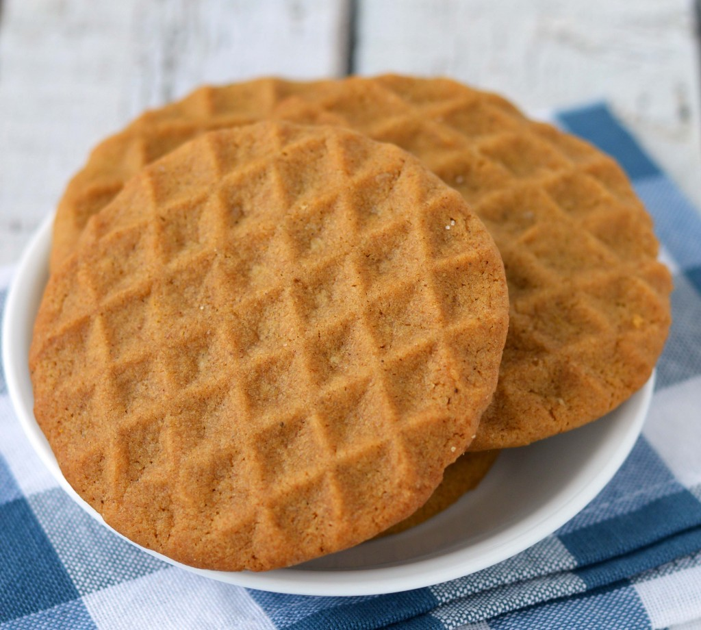 stamped soft ginger cookie
