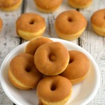 Baked pumpkin donuts with maple glaze **Giveaway**