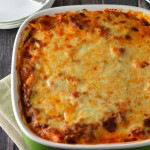 Layered baked penne