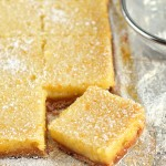 Whole meyer lemon bars