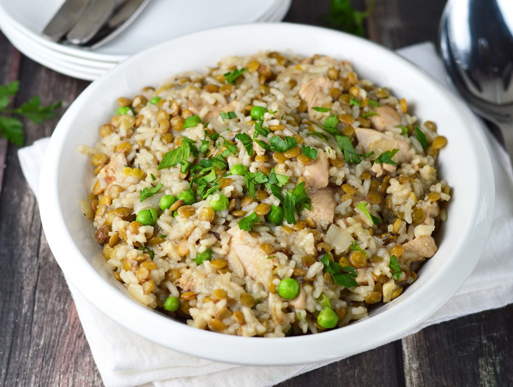 Lemon lentil chicken and rice