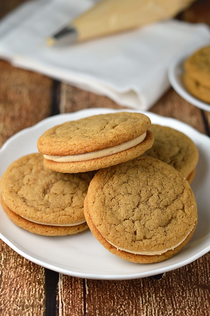 Peanut butter sandwich cookies - Friday is Cake Night