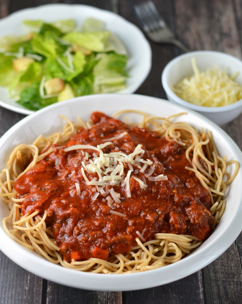 ... dinner in the morning and return home to slow cooker spaghetti sauce