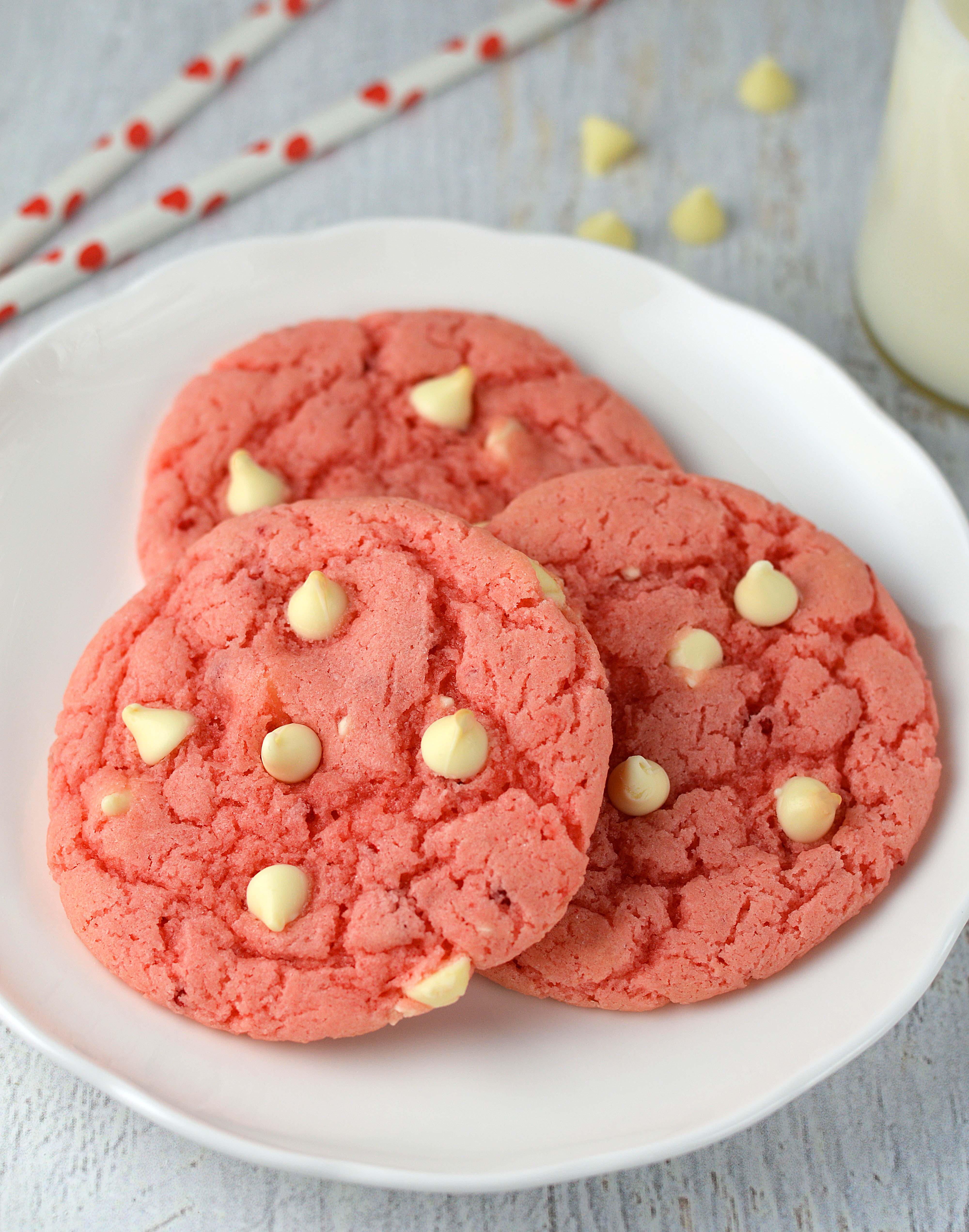 Strawberry Cookie Made With Cake Mix