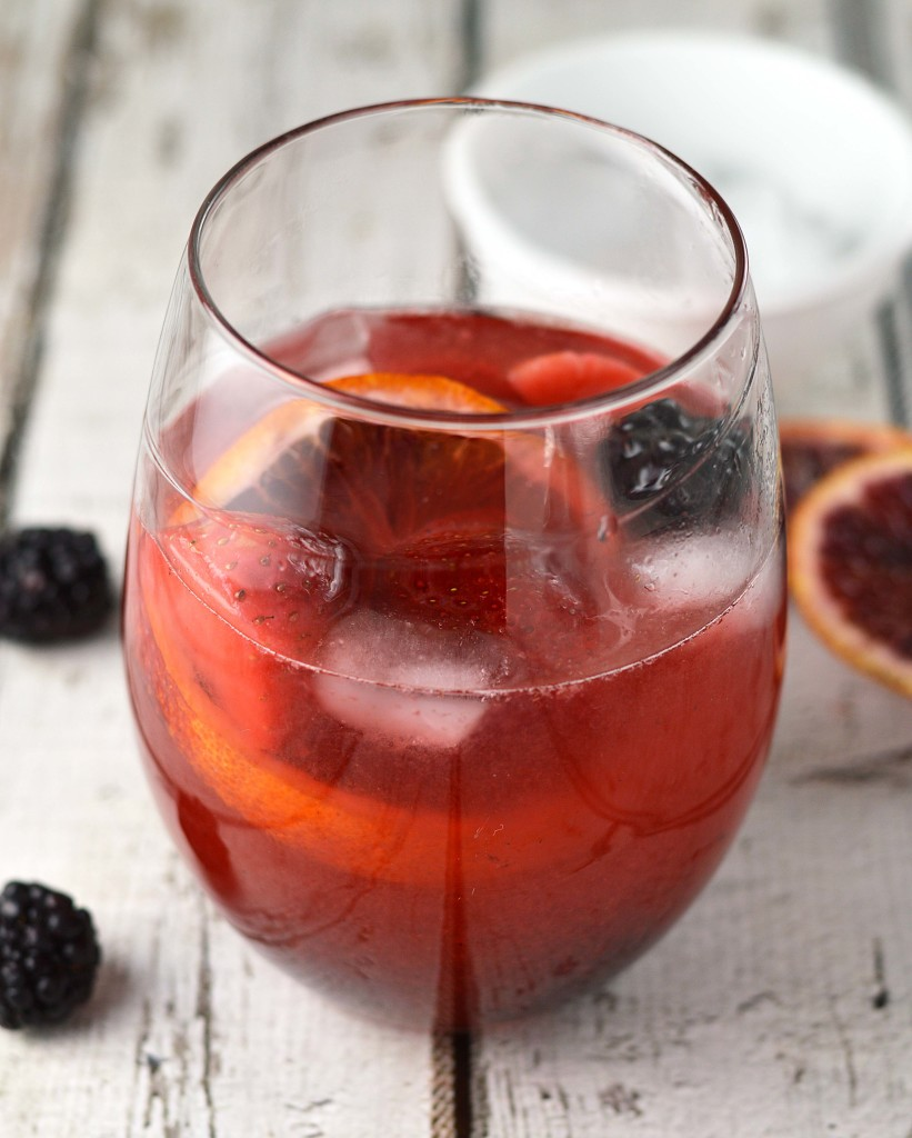 Blushing berry sangria