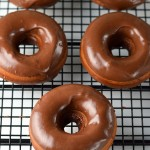 Baked chocolate doughnuts