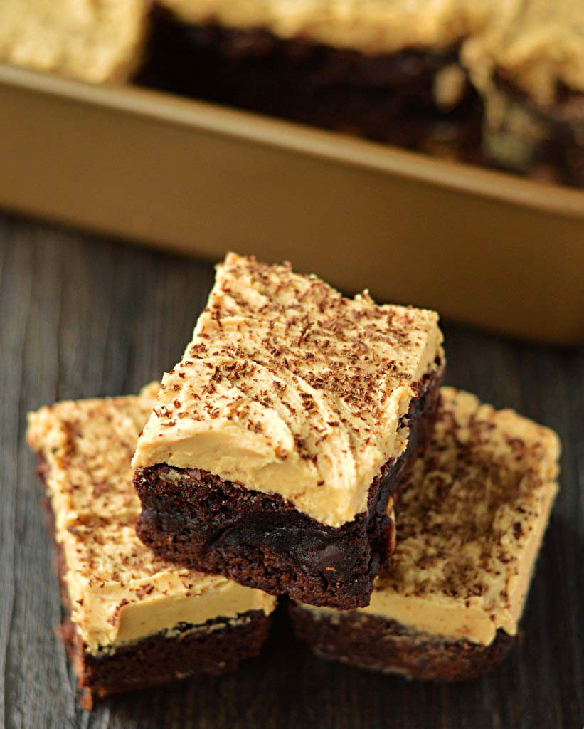 Mocha Almond Fudge Brownies - Friday is Cake Night