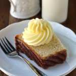 Lemon Square Bundt Cake with lemon buttercream