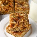 caramel apple breakfast bars