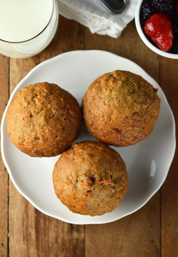 Spiced Carrot Muffins with Orange Glaze - Friday is Cake Night