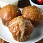 Spiced Carrot Muffins with Orange Glaze