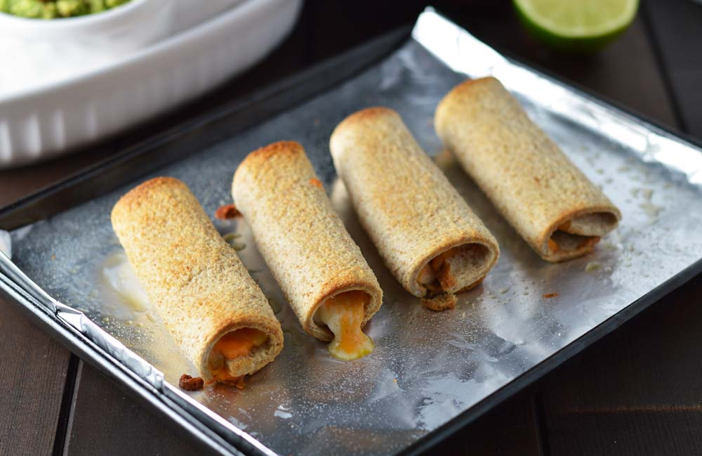 Baked cheese roll ups