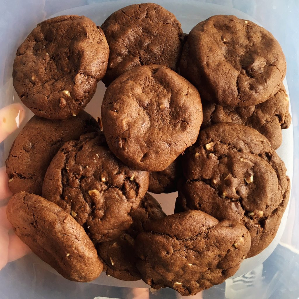 Triple chocolate mint cookies - Friday is Cake Night