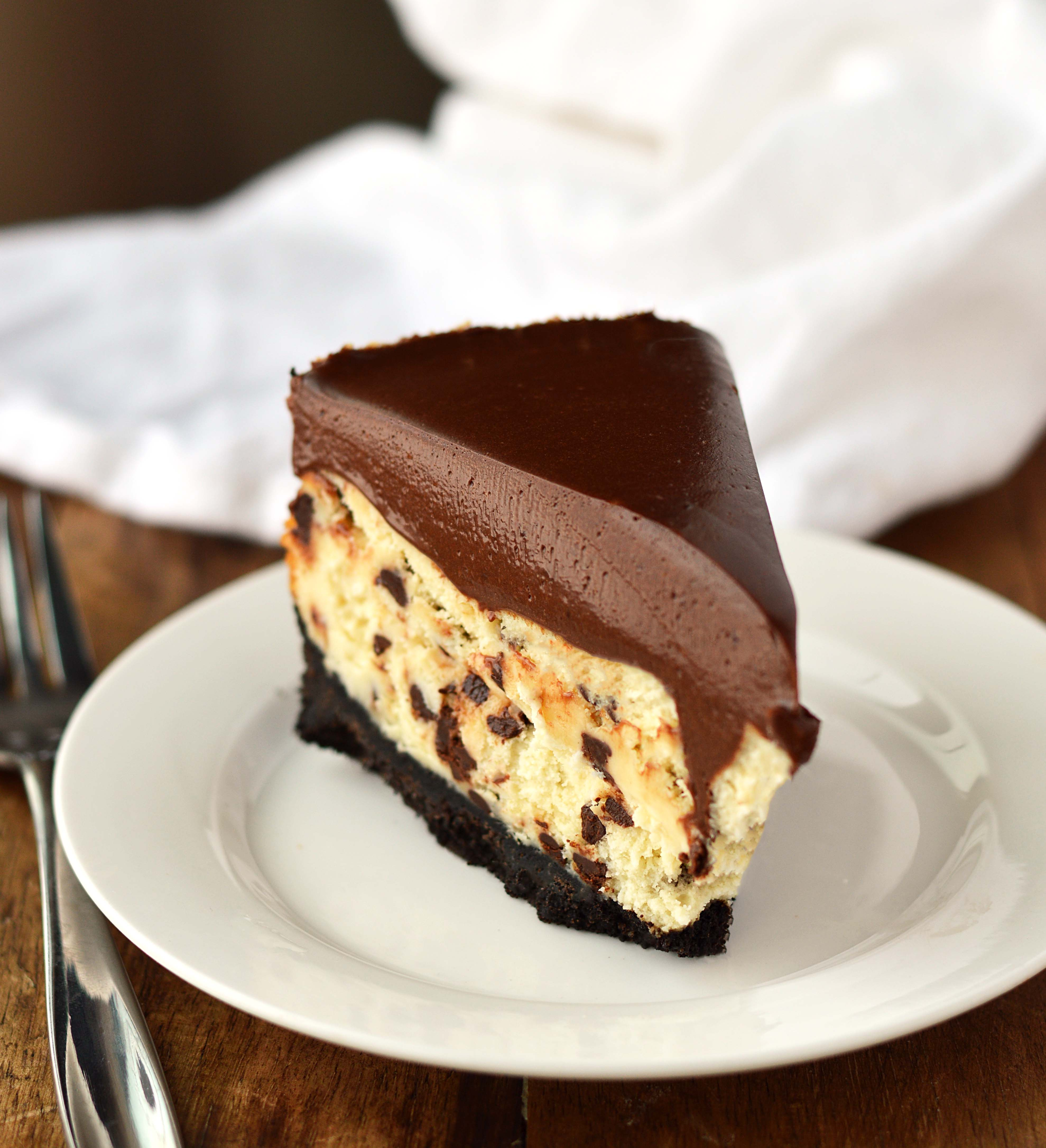 Chocolate mousse cheesecake - Friday is Cake Night