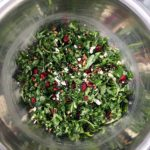 Kale Salad with Feta, Pecans and Cranberries