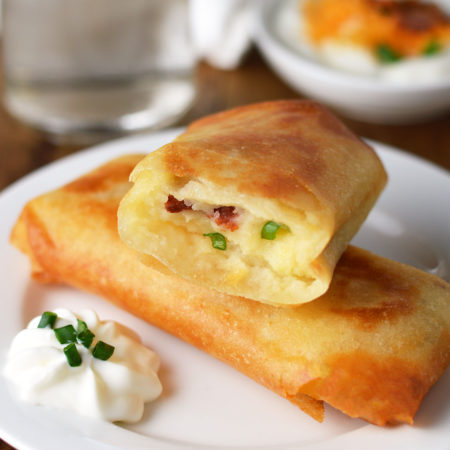 Loaded Potato Spring Rolls