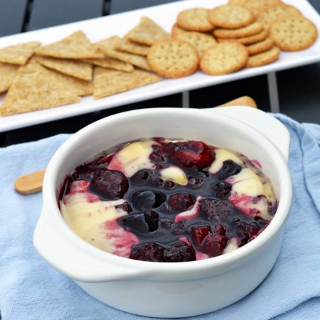 Baked camembert with boozy berries
