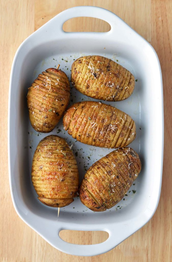 Caesar Hasselback Potatoes