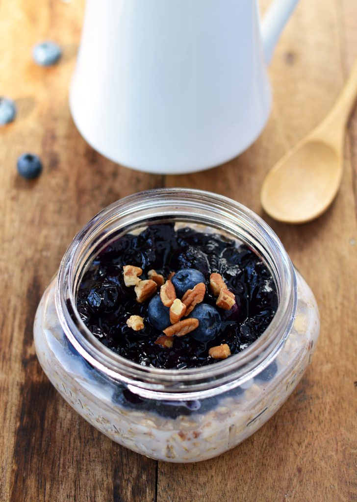 Blueberry Pie Overnight Oatmeal