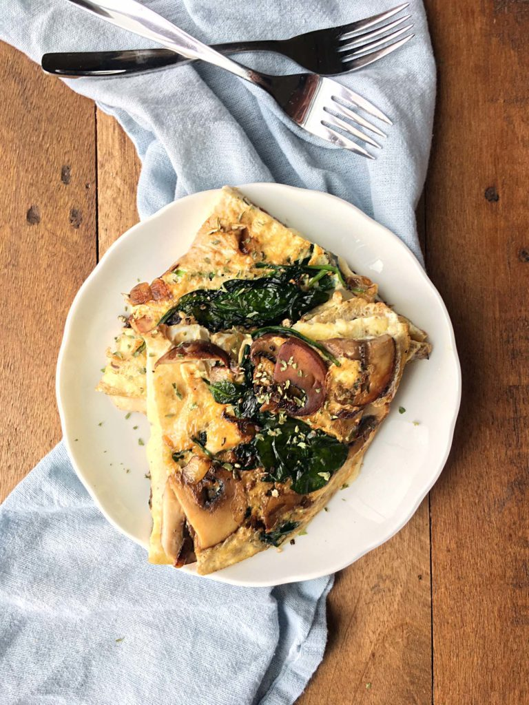 Mushroom and Onion Steamed Omelette