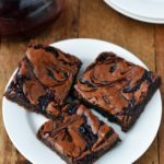 Raspberry swirled brownies