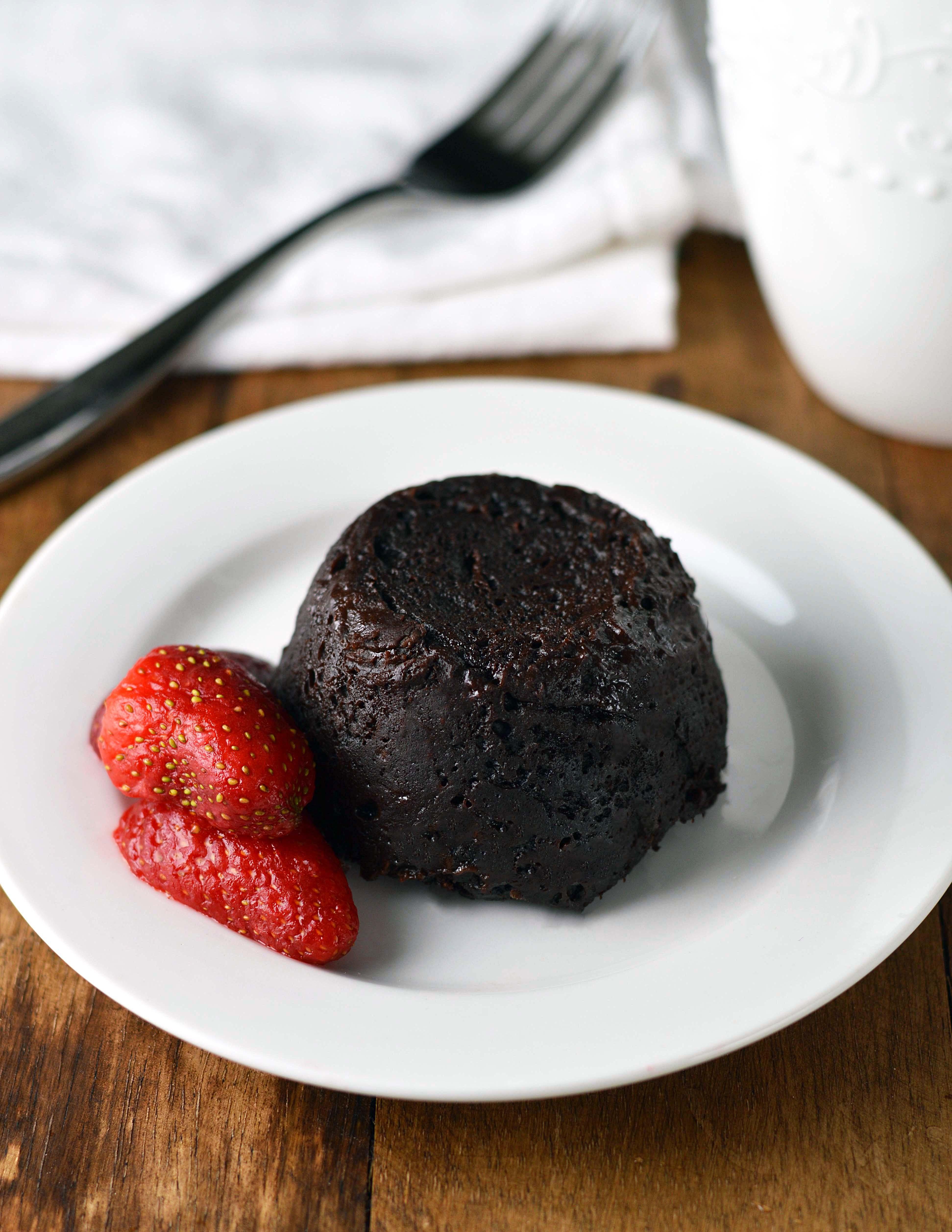 Gooey chocolate mug cake - Friday is Cake Night