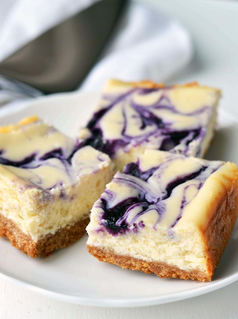 Blueberry Swirl Cheesecake Bars Friday Is Cake Night